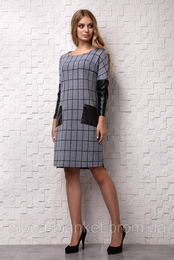 b0061ae150a Теплое платье из ангоры. Молодежное платье. Платье в клетку. Платье  свободного кроя.