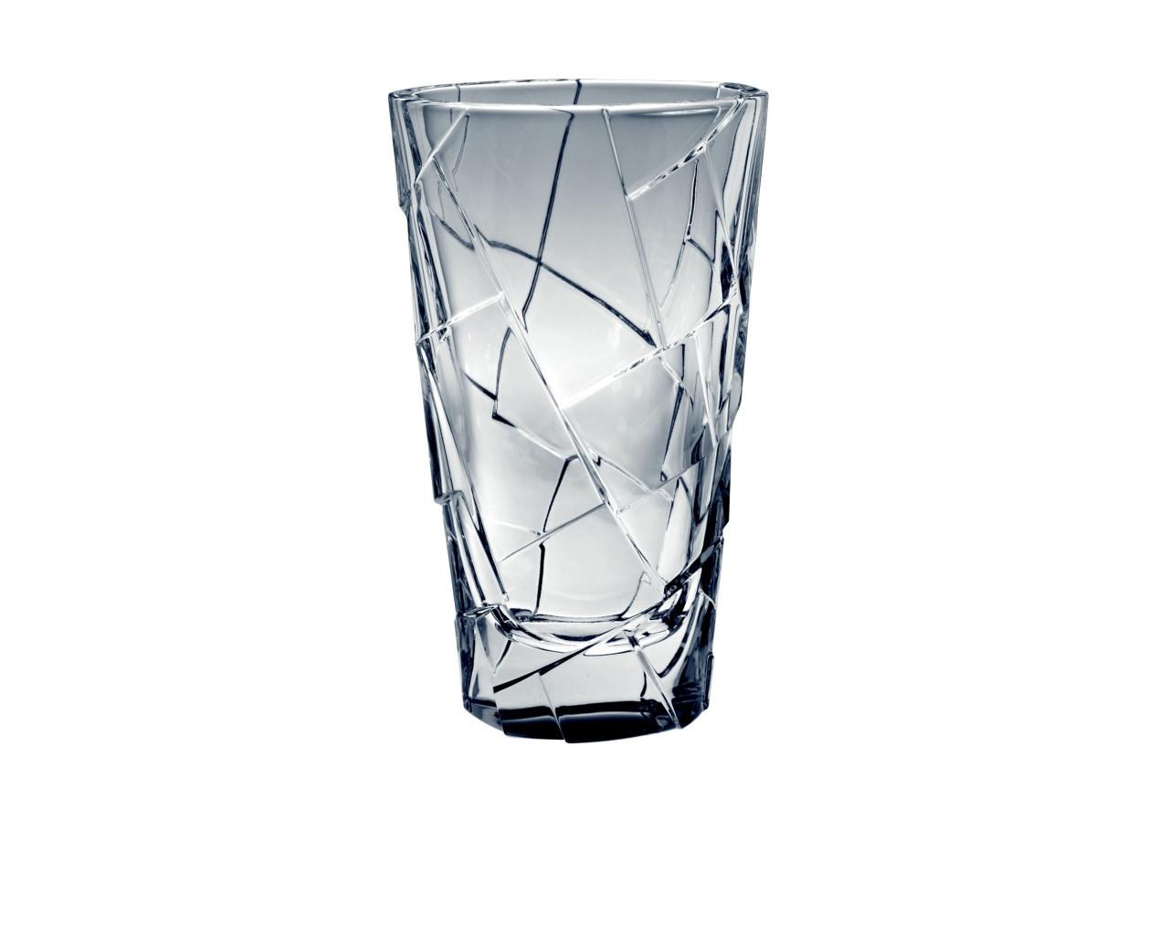"""Ваза стеклянная BOHEMIA """"Crack """"  5641 (30 см)"""