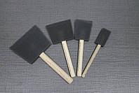 Набор кистей из пенополивинил хлорида, Foam Brush Pack, 4 шт., Rustins