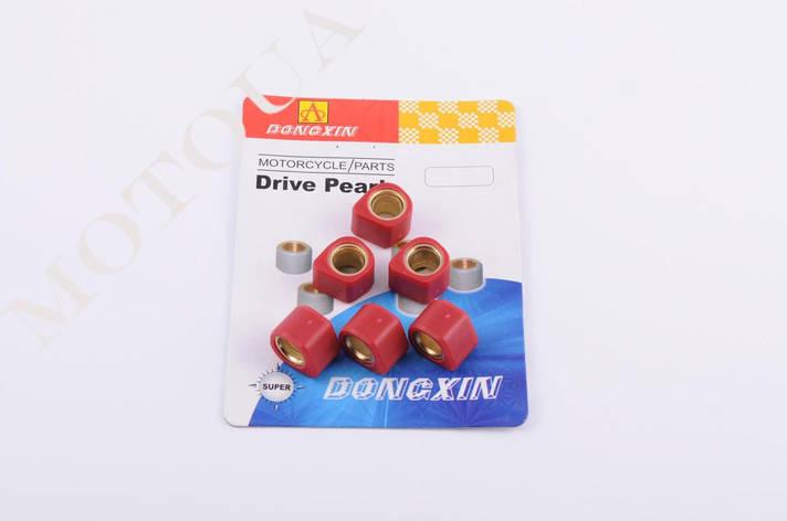 Ролики вариатора 16*13 Honda 8,5г красные (тюнинг) DONGXIN, фото 2