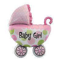 Шарик фольгированный Коляска Baby Girl 75 см