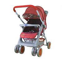 Коляска прогулочная Bambini MARS (+накидка на ножки) Красный (клубничка)