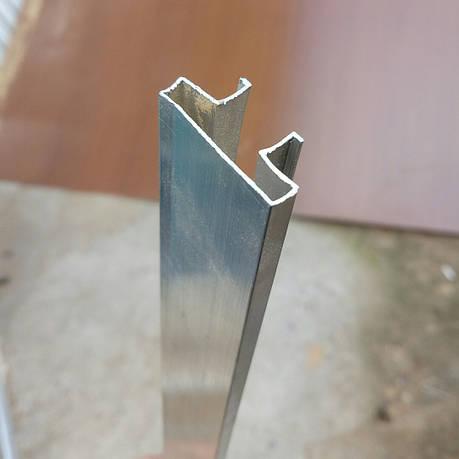 Вставка алюминиевая в профрезерованный паз экономпанели., фото 2