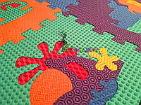 Детский игровой развивающий коврик-пазл Премиум