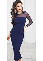 Т4003 Облегающее платье с сеткой 42,44,46, фото 3
