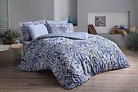 ТАС Digital Quinn mavi  семейный комплект постельного белья