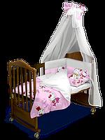 """Детский постельный комплект с балдахином """"Hello Kitty"""" 120*60 см  (Скидка на доставку Новой почтой - 25%)"""
