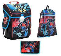 Набор первоклассника для мальчика Рюкзак, сумка для обуви, пенал Kite Transformers 503