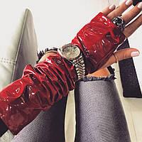 Перчатки-митенки Doratti перламутровая эко кожа декорированы фирменной подвеской разные цвета SHdor77