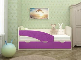 Детская кровать Бабочки МДФ