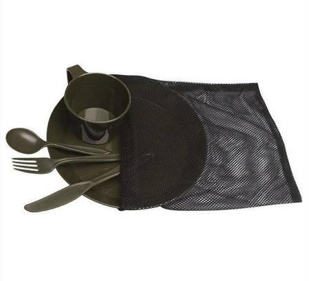 Набор пластиковой посуды на 1 персону MilTec Olive 14681000, фото 2