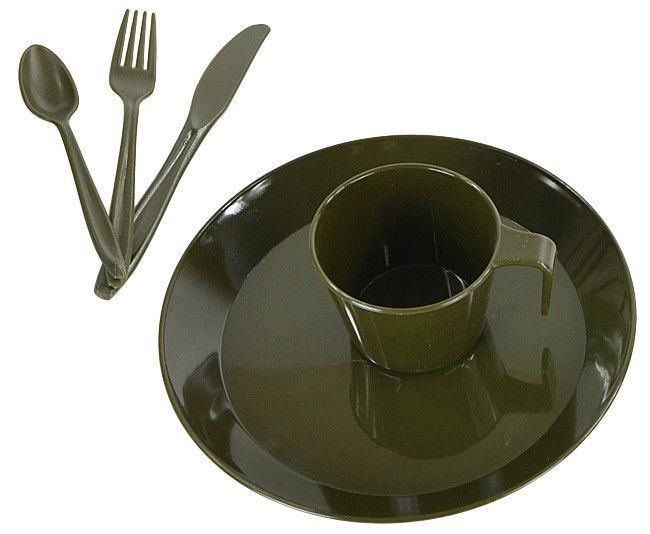 Набор пластиковой посуды на 1 персону MilTec Olive 14681000