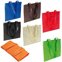 Эко-сумка для покупок нетканая с длинными ручками IT3787 (в ассортименте)