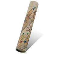 """Набор цветных карандашей 12 цв.+3 черных MARCO """"Natural""""+ линейка, точилка, резинка 6810-15"""