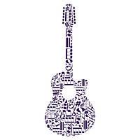Виниловая Наклейка Glozis Guitar, фото 1