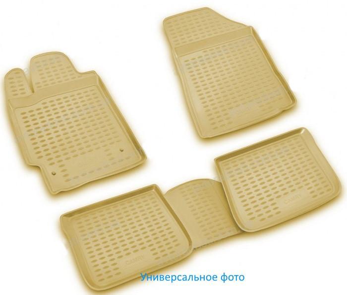 Коврики в салон для Hyundai Grandeur, 2012-> 4 шт (бежевый) 3D  NLC.3D.20.54.212