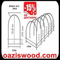 Мини теплица 6м - размер XL агроволокно 30г/1м², стальные дуги с ПВХ