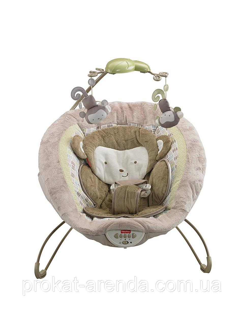 """Шезлонг для новорожденного Fisher-Price """"Моя маленькая обезьянка"""""""