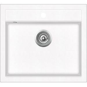 Кухонная мойка ГРАНИТ 59*50 см ADAMANT PRIZMA Белый
