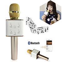 Беспроводной микрофон-караоке bluetooth Q7, DM Karaoke Q7 GOLD
