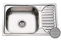 Кухонная стальная мойка (66*42*18 см) Galati Mirela Textură 7136, фото 1