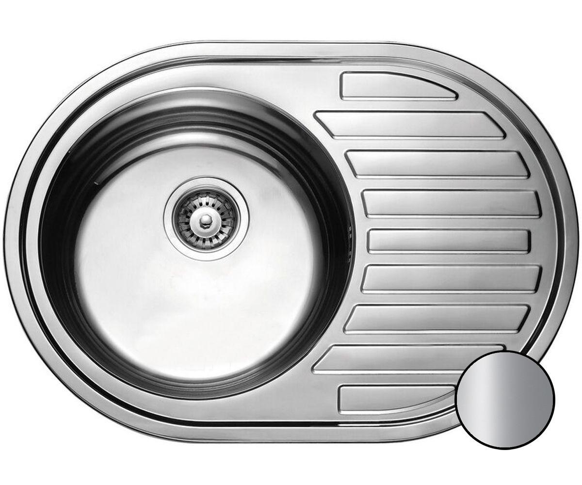 Кухонная стальная мойка (77*50*18 см ) Galati Dana Satin 7129