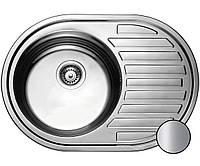 Кухонная стальная мойка (77*50*18 см ) Galati Dana Satin 7129, фото 1