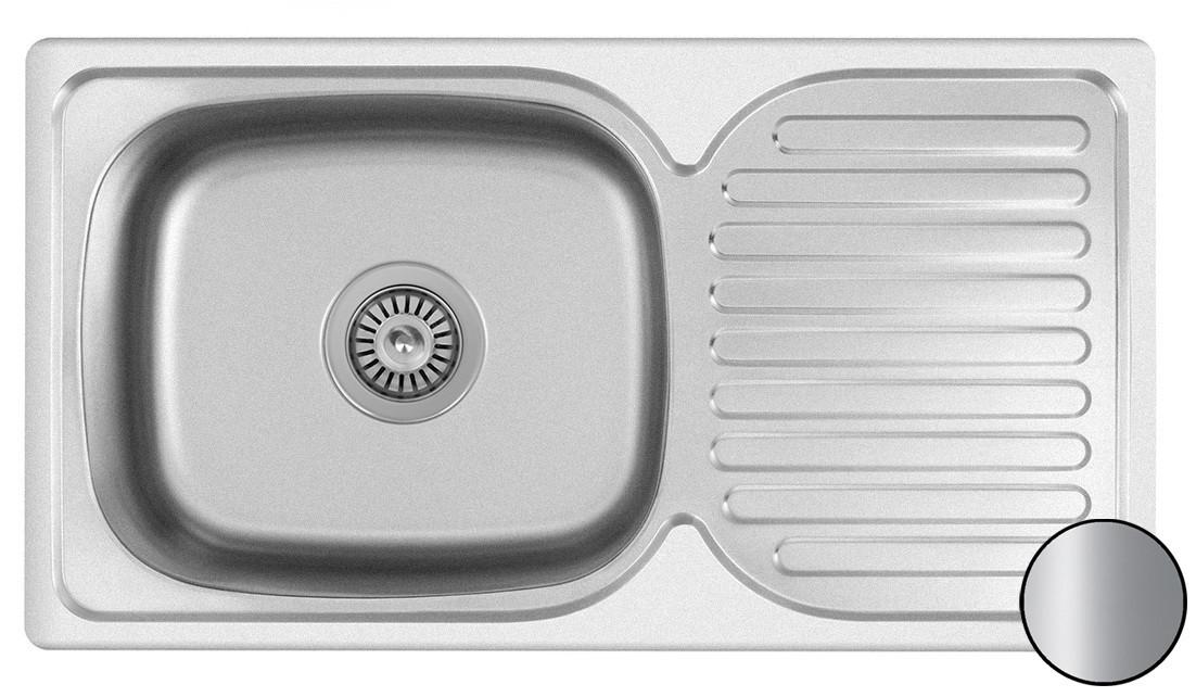Кухонная стальная мойка (76*42*18 см) Galati Anka Satin 7140