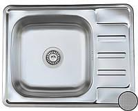 Кухонная стальная мойка (63*50*18 cм) Galati Douro Textură 7208 , фото 1