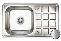 Кухонная стальная мойка (78*48*18 см) Galati (Eko) Rodica Satin 8473, фото 1
