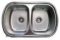 Кухонная стальная мойка (77*49*18 cм) Galati Vayorika 2C Textură 8490