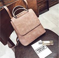 Рюкзак сумка для девушки экокожа розовый, фото 1