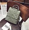 Женский рюкзак-сумка экокожа серый