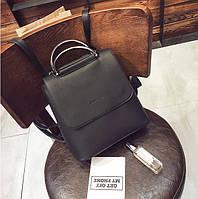 Женский рюкзак сумка экокожа черный, фото 1