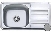 Кухонная стальная мойка (78х43,5х17 см) Galati Milana Textură 8494