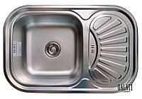 Кухонная стальная мойка (75*49*18 см) Galati Stelă Textură 8476