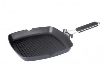 Сковорода-гриль 24 см (съемная ручка, без крышки) Con Brio СВ-2405