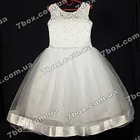 Детское платье бальное Одри (белое) Возраст 5-6 лет., фото 1
