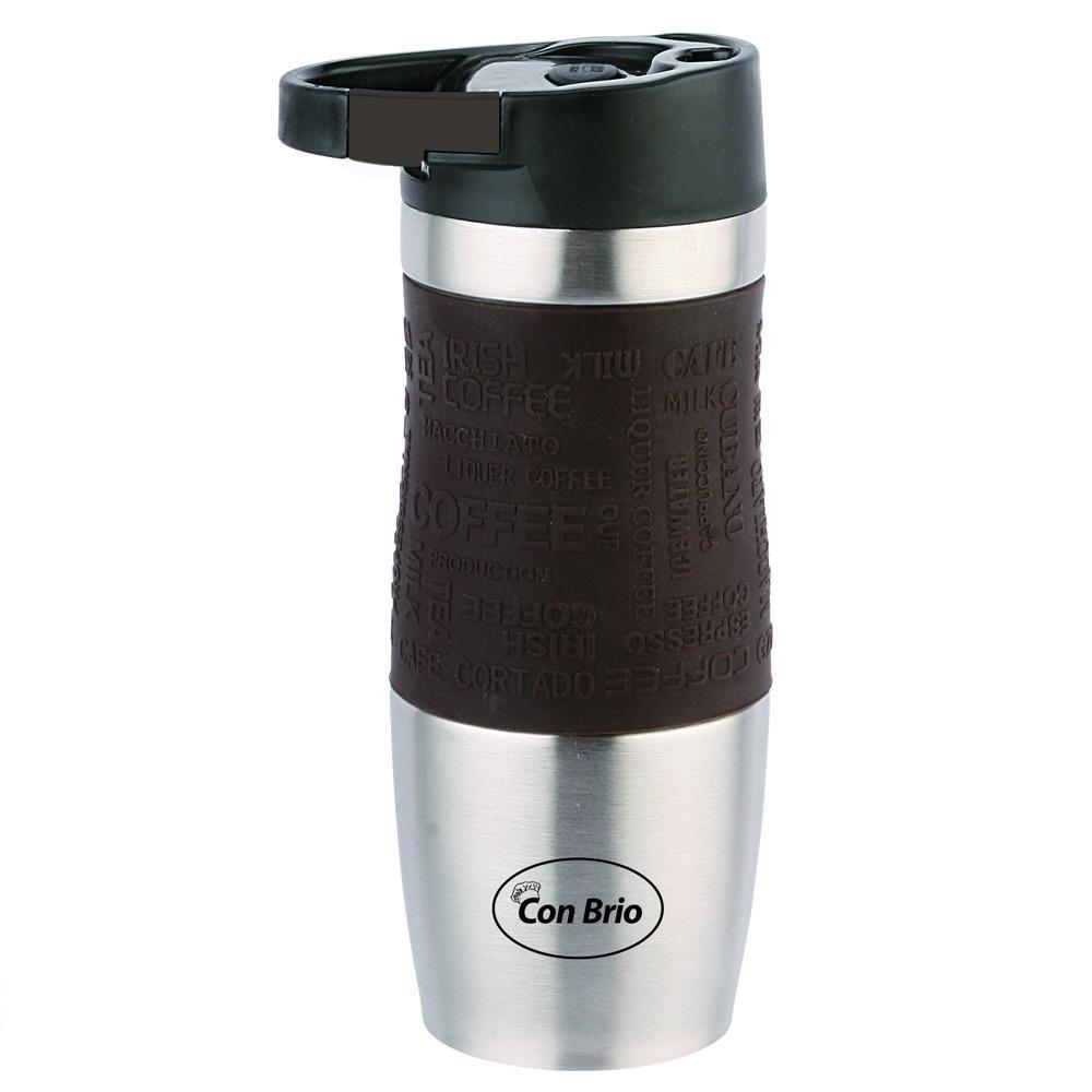 Чашка-термос (сталь) 380 мл Con Brio CB-348 коричн