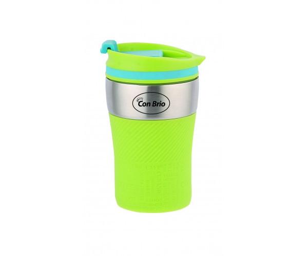 Чашка-термос (сталь) 280 мл Con Brio CB-360 зелен