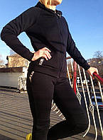 Зимний тёплый спортивный костюм  трикотаж 3 нитка + начёс
