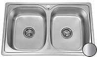 Кухонная стальная мойка (78*48*18 cм) Galati Fifika 2C Satin 4015