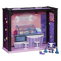 Литл Пет Шоп набор Джимми и Бар Удовольствий маленький Зоомагазин Littlest Pet Shop Pet Shop Yummy Playset
