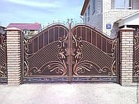 Распашные ворота №1