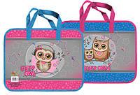 Детская папка портфель А4 Kidis Cute Little Owl, пластиковая, на замке, с ручками