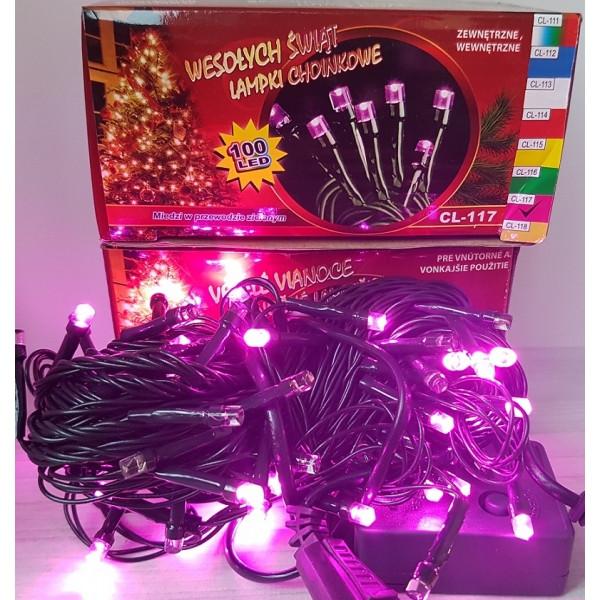 Гірлянда на 100 LED рожева