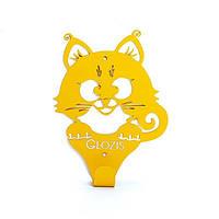 Вешалка настенная Glozis Kitty Yellow, фото 1