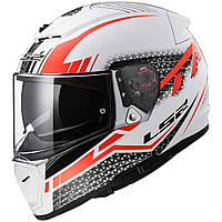 Шлем LS2 FF390 Breaker SPLIT, WHITE RED, L