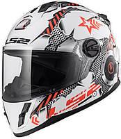Детский шлем LS2 FF392 JUNIOR MACHINE, WHITE RED, L