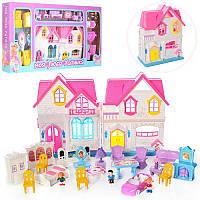 Кукольный домик Sweety Home 921 B-E: мебель + фигурки + машина (звук/свет)